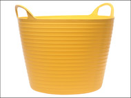 Faithfull FAIFLEX15Y - Heavy-Duty Polyethylene Flex Tub 15 Litres Yellow