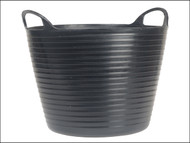 Faithfull FAIFLEX28B - Heavy-Duty Polyethylene Flex Tub 28 Litres Black