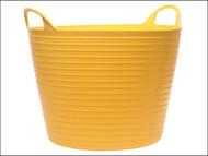 Faithfull FAIFLEX60Y - Heavy-Duty Polyethylene Flex Tub 60 Litres Yellow