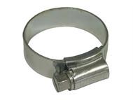 Faithfull FAIHC1SSB - 1 Stainless Steel Hose Clip 25 - 35mm