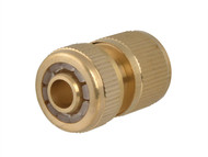 Faithfull FAIHOSEWC - Brass Female Water Stop Connector 12.5mm (1/2in)