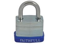 Faithfull FAIPLLAM30 - Laminated Steel Padlock 30mm 3 Keys