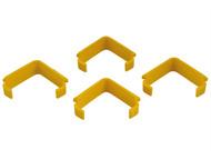 Faithfull FAIPROEXTLH - External Building Profile Line Holders (Pack of 4)