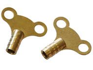 Faithfull FAIRADKEY - Radiator Keys - Brass (card 2)
