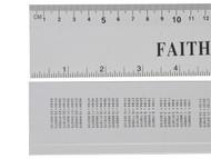 Faithfull FAIRULE300 - Aluminium Rule 300mm / 12in