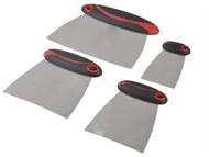 Faithfull FAISGFILLERS - Filler & Spreader Set of 4 Stainless Steel