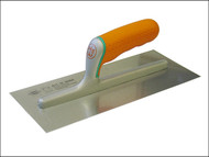 Faithfull FAISGFTSS - Plasterers Stainless Finishing Trowel Soft Grip Handle 11in x 4.3/4in