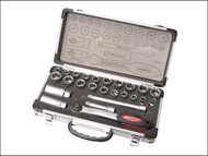 Faithfull FAISOC3825MA - Socket Set of 25 Metric & AF 3/8in Drive