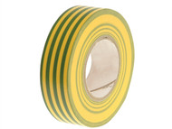 Faithfull FAITAPEPVCGY - PVC Electricial Tape Green / Yellow 19mm x 20m