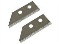 Faithfull FAITLGROUSB - Replacement Carbide Blades For FAITLGROUSAW Grout Rake (Pack of 2)