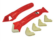 Faithfull FAITLSILKIT - Slicone Scraper Kit Two Piece