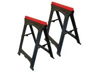 Faithfull FAITRESTLESP - Plastic Trestles (Set 2) Height 82cm x Length 57cm