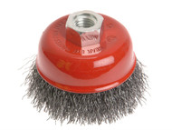 Faithfull FAIWBC125 - Wire Cup Brush 125mm x M14 x 2 0.30mm