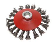 Faithfull FAIWBTC100MC - Conical Wire Brush 100mm x M10 x 1.5 0.50mm Wire