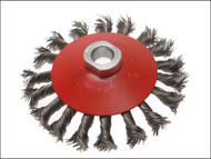 Faithfull FAIWBTC115 - Conical Wire Brush 115mm x M14 x 2 0.50mm Wire