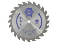Faithfull FAIZ16524C - Trim Saw Blade 165 x 10mm x 24T Fast Rip