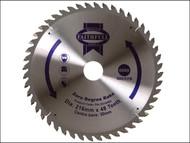 Faithfull FAIZ21648Z - Circular Saw Blade 216 x 30mm x 48T Zero Degree
