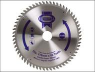 Faithfull FAIZ21660ATB - Circular Saw Blade 216 x 30mm x 60T NEG