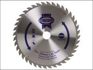 Faithfull FAIZ25440 - Circular Saw Blade 254 x 16/25/30mm x 40T Fine Cross Cut