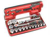 Facom FCMS360DBOX1 - Metric Socket Set of 18 1/2in Drive