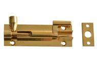 Forge FGEDBLTNBR2 - Door Bolt Necked - Brass 75mm (3in)