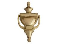 Forge FGEDNOCGEOBR - Door Knocker - Georgian Brass Finish 165mm