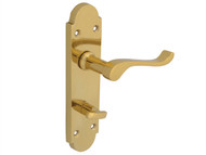 Forge FGEHBATGABBR - Backplate Handle Bathroom - Gable Brass Finish