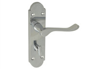 Forge FGEHBATGABCH - Backplate Handle Bathroom - Gable Chrome Finish