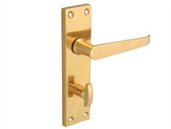 Forge FGEHBATVSTBR - Backplate Handle Bathroom - Straight Victorian Brass Finish 150mm