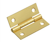 Forge FGEHNGBTBP50 - Butt Hinge Brass Finish 50mm (2in) Pack of 2