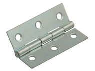 Forge FGEHNGBTZP75 - Butt Hinge Steel Zinc Plated 75mm (3in) Pack of 2