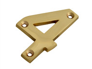 Forge FGENUM4BR75 - Numeral No.4 - Brass Finish 75mm (3in)