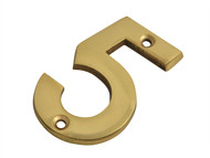 Forge FGENUM5BR75 - Numeral No.5 - Brass Finish 75mm (3in)