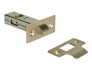 Forge FGETUBLNC25 - Tubular Mortice Latch Nickel Finish 65mm (2.5in)