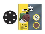 Flexovit FLV26394 - Hook & Loop Sanding Discs 150mm Coarse 50g (Pack of 6)