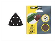 Flexovit FLV26401 - Delta Hook & Loop Sanding Sheets 94mm Fine 120g (6)