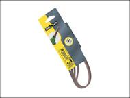 Flexovit FLV26439 - Powerfile Sanding Belt 454mm x 13mm Medium 80g (Pack of 4)