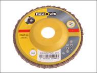 Flexovit FLV27526 - Flap Discs For Angle Grinders 115mm 80g (1)