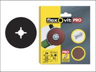 Flexovit FLV27563 - Aluminium Oxide Fibre Discs 125mm Extra Coarse 36g (Pack of 10)