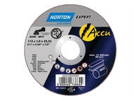 Flexovit FLV43020 - Accu Slitting Discs 115 x 22mm Pack of 5