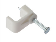 Forgefix FORFCC25W - Cable Clip Flat White 2.50mm Box 100