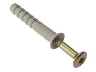 Forgefix FORHF650G - Hammer Fixing & Plug M6 x 50mm Bag 10