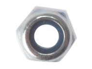 Forgefix FORNYLOC12G - Hexagon Nut & Nylon Insert ZP M12 Bag 50