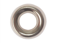 Forgefix FORSCW8NB - Screw Cup Washer Solid Brass Nickel Plated No.8 Blister 20