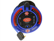 Faithfull Power Plus FPPCR1013PRO - Fast Rewind 4 Socket Cable Reel 10 Metre 3120 Watt 13 Amp