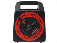 Faithfull Power Plus FPPCR20MER - Easy Reel Cable Reel 20 Metre 10 Amp With 4 Socket 240 Volt