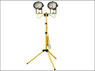 Faithfull Power Plus FPPSL1000CTL - Sitelight Twin Adjustable Stand 1000 Watt 110 Volt