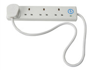 Faithfull Power Plus FPPTL4SURGE1 - Trailing Socket 240 Volt Anti-Surge 4 Way Socket 13 Amp 1 Metre