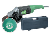 Hitachi HITG23SSCDL - G23SS 230mm Angle Grinder with Diamond Blade & Case 1900 Watt 110 Volt