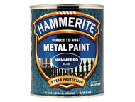 Hammerite HMMHFB750 - Direct to Rust Hammered Finish Metal Paint Blue 750ml